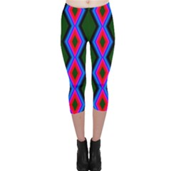 Quadrate Repetition Abstract Pattern Capri Leggings