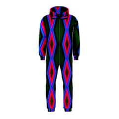 Quadrate Repetition Abstract Pattern Hooded Jumpsuit (kids) by Nexatart