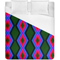 Quadrate Repetition Abstract Pattern Duvet Cover (california King Size) by Nexatart