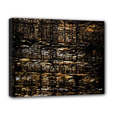 Wood Texture Dark Background Pattern Canvas 14  X 11
