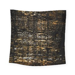 Wood Texture Dark Background Pattern Square Tapestry (small) by Nexatart