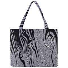 Abstract Swirling Pattern Background Wallpaper Mini Tote Bag by Nexatart