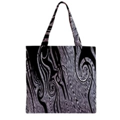 Abstract Swirling Pattern Background Wallpaper Zipper Grocery Tote Bag by Nexatart