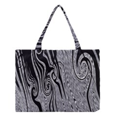 Abstract Swirling Pattern Background Wallpaper Medium Tote Bag by Nexatart
