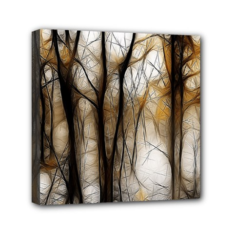 Fall Forest Artistic Background Mini Canvas 6  X 6  by Nexatart