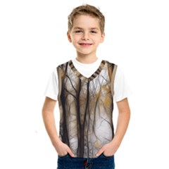 Fall Forest Artistic Background Kids  Sportswear
