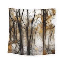 Fall Forest Artistic Background Square Tapestry (small) by Nexatart