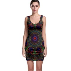 Rainbow Kaleidoscope Sleeveless Bodycon Dress