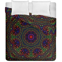 Rainbow Kaleidoscope Duvet Cover Double Side (california King Size) by Nexatart