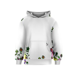 Floral Border Cartoon Flower Doodle Kids  Pullover Hoodie by Nexatart