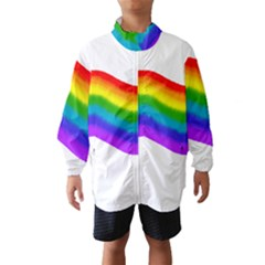 Watercolour Rainbow Colours Wind Breaker (kids) by Nexatart
