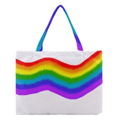 Watercolour Rainbow Colours Medium Tote Bag by Nexatart