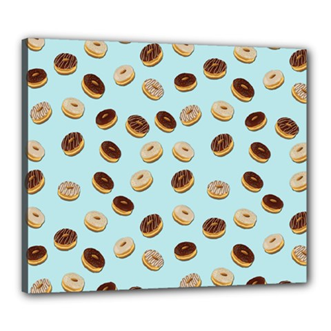 Donuts Pattern Canvas 24  X 20