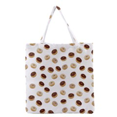 Donuts Pattern Grocery Tote Bag by Valentinaart
