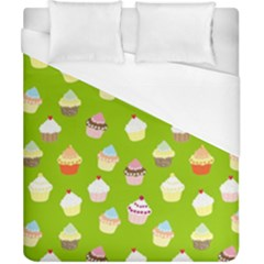 Cupcakes Pattern Duvet Cover (california King Size) by Valentinaart