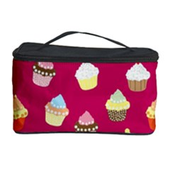 Cupcakes Pattern Cosmetic Storage Case by Valentinaart