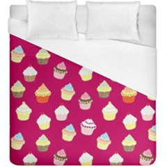 Cupcakes Pattern Duvet Cover (king Size) by Valentinaart
