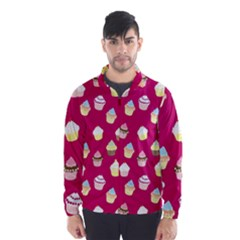 Cupcakes Pattern Wind Breaker (men) by Valentinaart