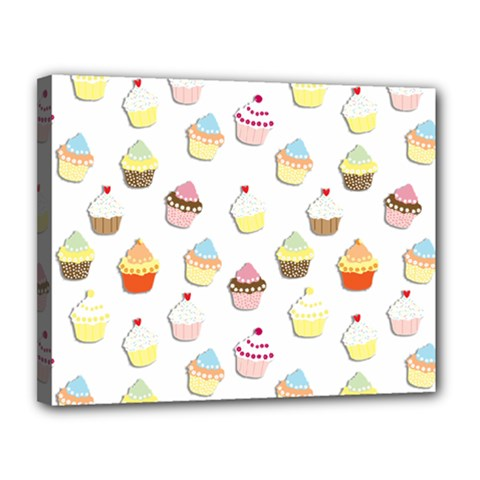Cupcakes Pattern Canvas 14  X 11