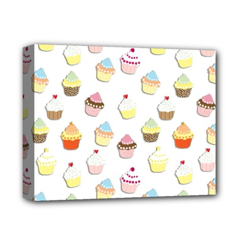 Cupcakes Pattern Deluxe Canvas 14  X 11  by Valentinaart