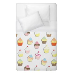 Cupcakes Pattern Duvet Cover (single Size) by Valentinaart