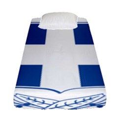Greece National Emblem  Fitted Sheet (single Size) by abbeyz71
