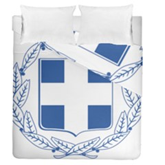 Greece National Emblem  Duvet Cover Double Side (queen Size) by abbeyz71