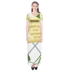 National Emblem Of Guatemala Short Sleeve Maxi Dress by abbeyz71