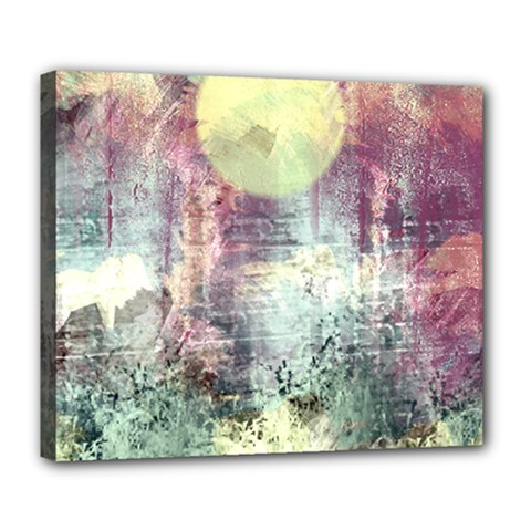 Frosty Pale Moon Deluxe Canvas 24  X 20   by digitaldivadesigns