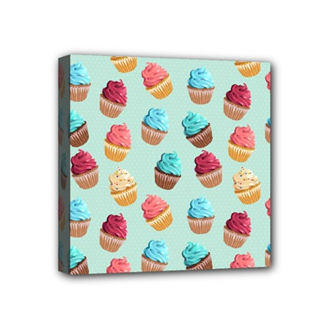 Cup Cakes Party Mini Canvas 4  X 4