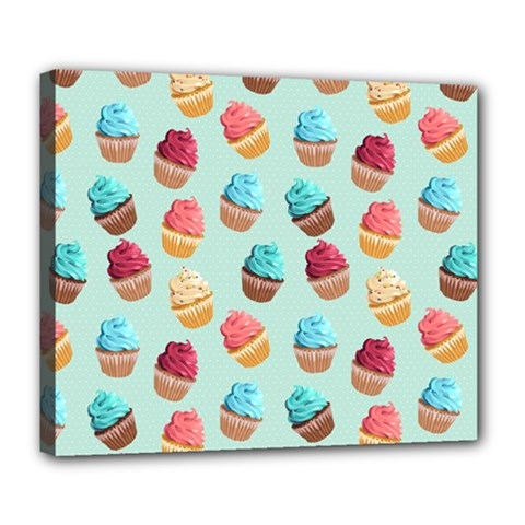 Cup Cakes Party Deluxe Canvas 24  X 20   by tarastyle