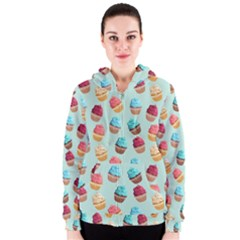 Cup Cakes Party Women s Zipper Hoodie