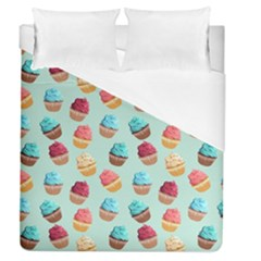 Cup Cakes Party Duvet Cover (queen Size) by tarastyle