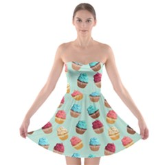 Cup Cakes Party Strapless Bra Top Dress