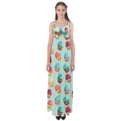 Cup Cakes Party Empire Waist Maxi Dress
