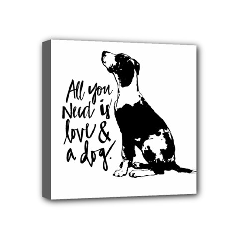 Dog Person Mini Canvas 4  X 4  by Valentinaart