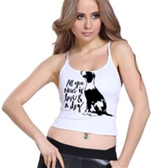 Dog Person Spaghetti Strap Bra Top
