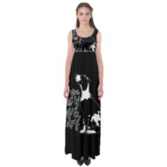 Dog Person Empire Waist Maxi Dress by Valentinaart