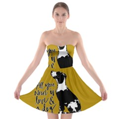 Dog Person Strapless Bra Top Dress by Valentinaart