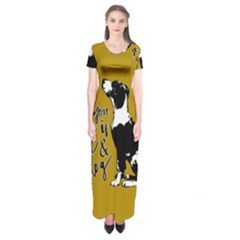 Dog Person Short Sleeve Maxi Dress by Valentinaart