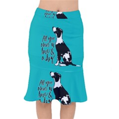 Dog Person Mermaid Skirt by Valentinaart