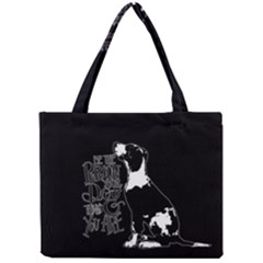 Dog Person Mini Tote Bag by Valentinaart