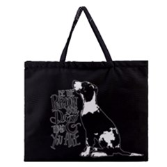Dog Person Zipper Large Tote Bag by Valentinaart