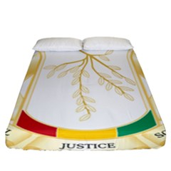 Coat Of Arms Of Republic Of Guinea  Fitted Sheet (california King Size) by abbeyz71