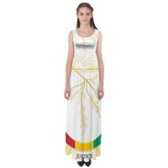Coat Of Arms Of Republic Of Guinea  Empire Waist Maxi Dress
