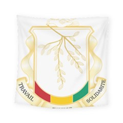 Coat Of Arms Of Republic Of Guinea  Square Tapestry (small)