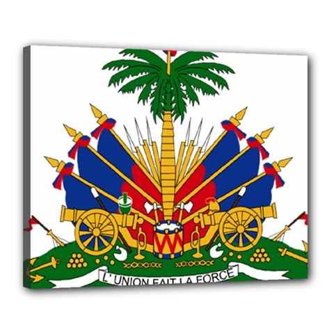 Coat Of Arms Of Haiti Canvas 20  X 16