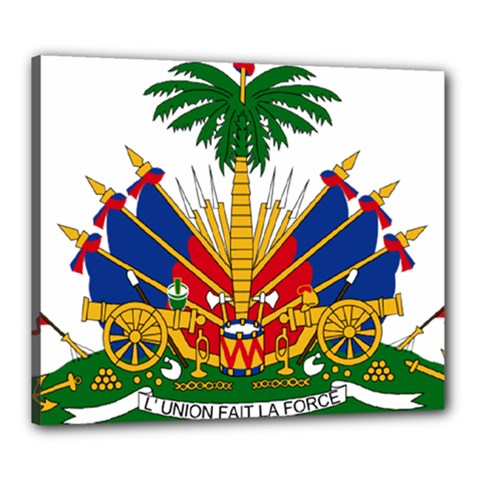 Coat Of Arms Of Haiti Canvas 24  X 20