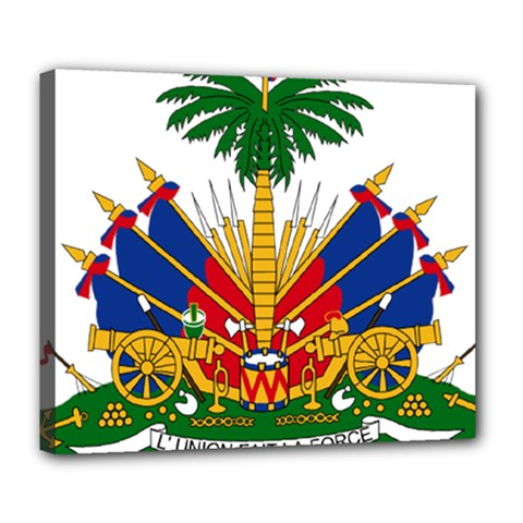 Coat Of Arms Of Haiti Deluxe Canvas 24  X 20   by abbeyz71