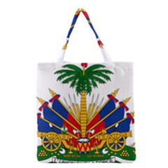 Coat Of Arms Of Haiti Grocery Tote Bag by abbeyz71